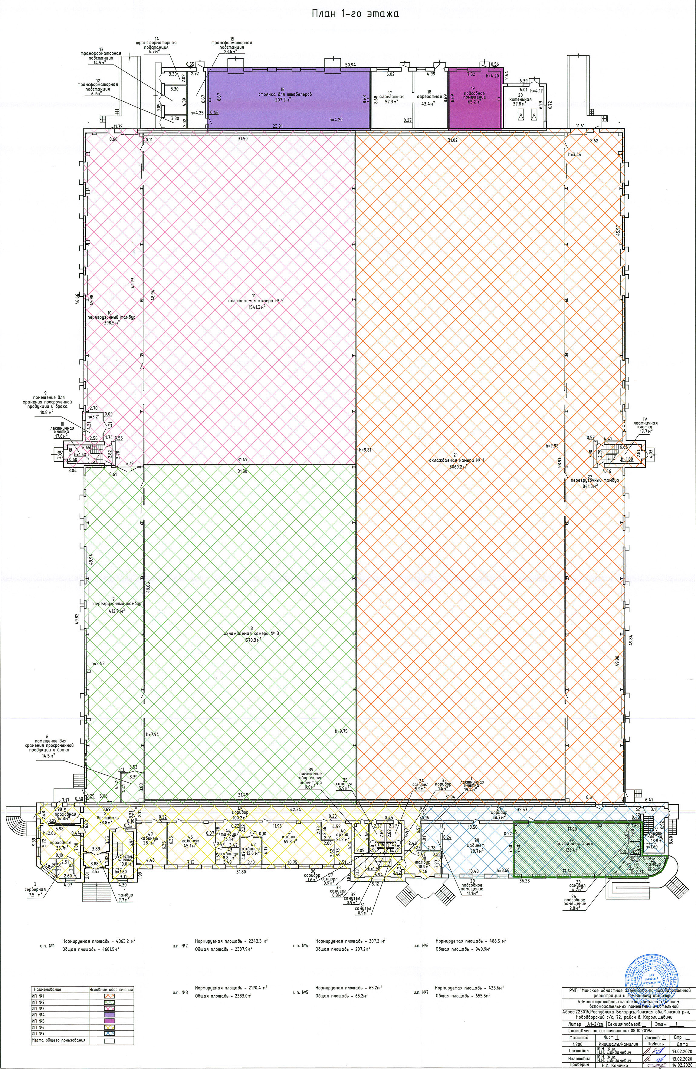 План 1-ого этажа РентИнвестСити